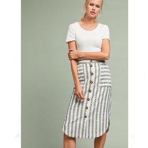 NWT Anthropologie Maeve Chiloe Striped Midi Skirt